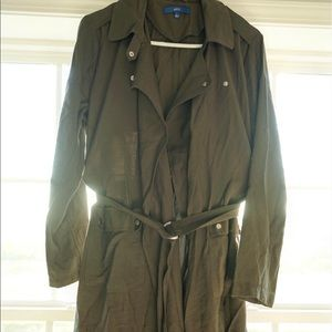 Army green trench jacket size large